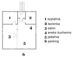 Plan apartamentu rodzinnego - W Dolinie Modrzewi | Agroturystyka Rudawy Janowickie